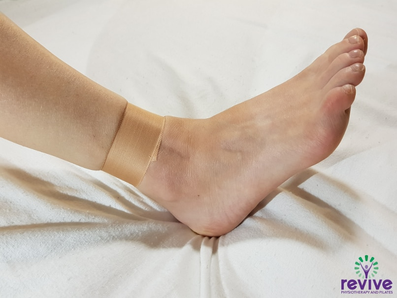 How to Tape your Ankle - Anchor - Revive Physiotherapy and Pilates