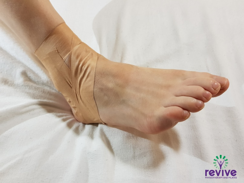 How to Tape your Ankle - Figure of 6 - Revive Physiotherapy and Pilates