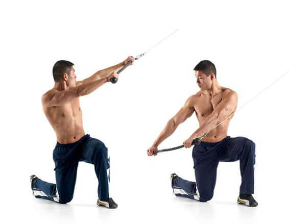 Half Kneeling Band/Cable Chop - Anti-rotational exercises - Revive Physiotherapy and Pilates
