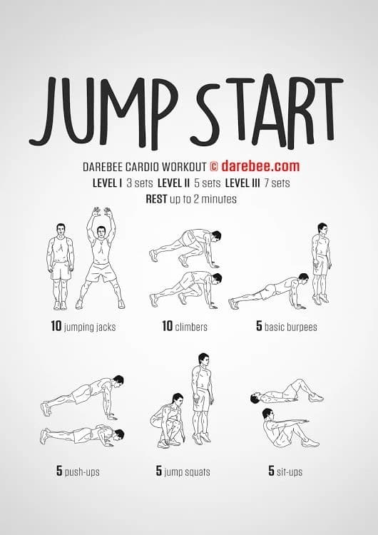 Darebee Jump Start Workout - Revive Physiotherapy and Pilates