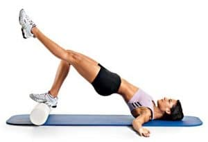 Bridging on foam rollers (intermediate)