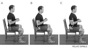 Seated pelvic tilts