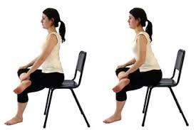 Seated Piriformis (glute) stretch