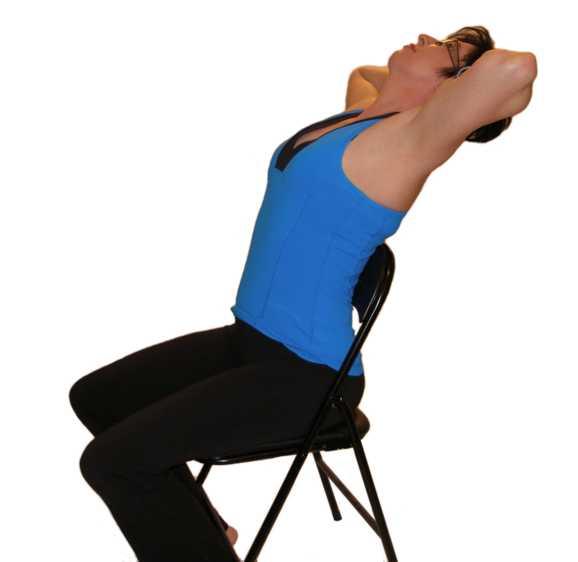 Seated upper back stretch